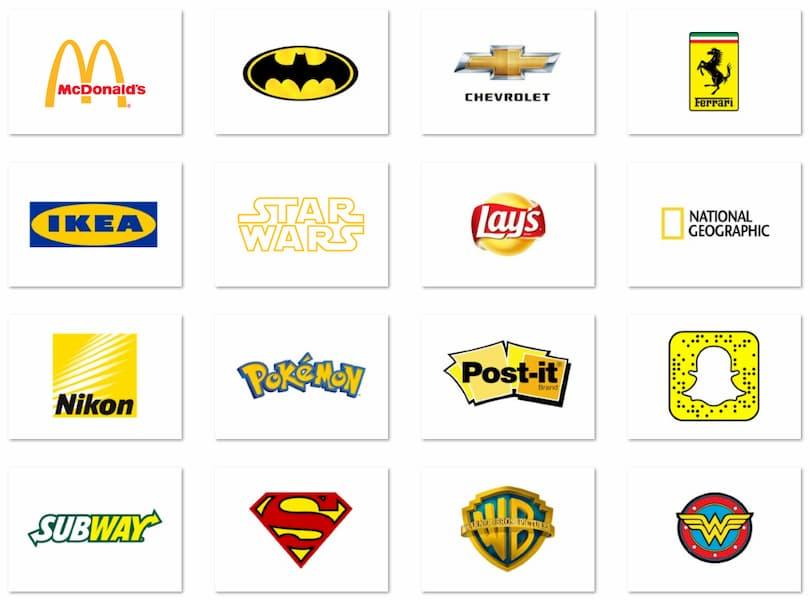 Найпопулярніші лого брендів жовтого кольору