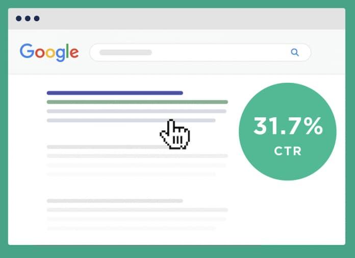 CTR Google 31.7%