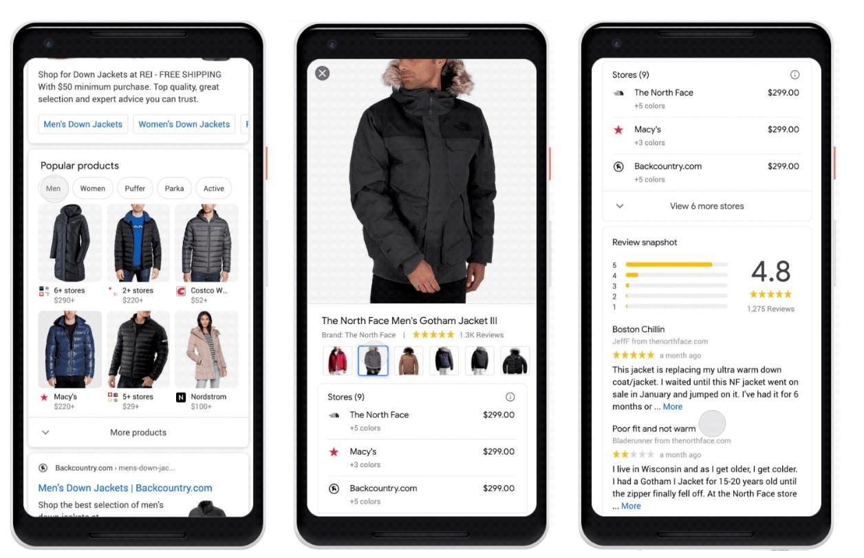 Google оголосив про запуск нового органічного блоку «Popular Products» в мобільній пошуковій видачі.