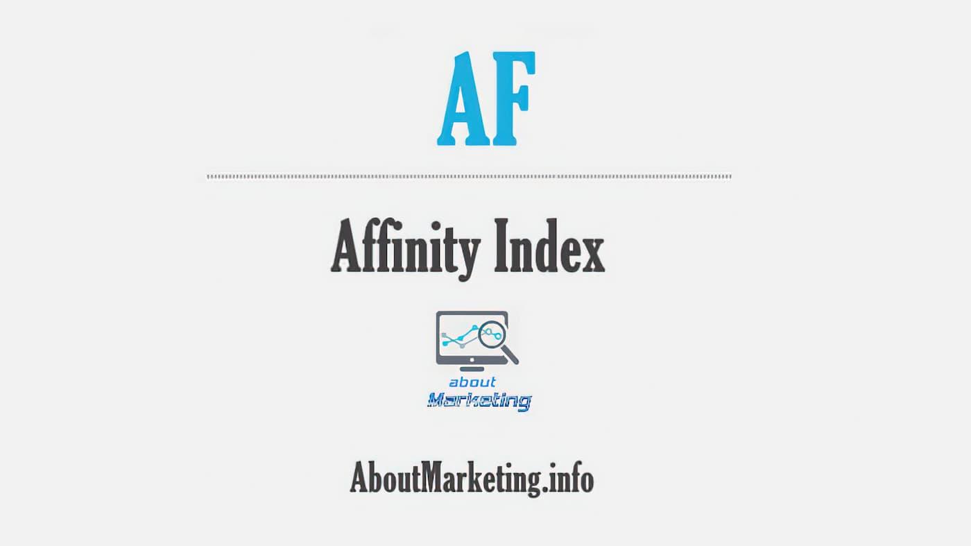Афініті-індекс (Affinity index, Aff, Індекс відповідності)
